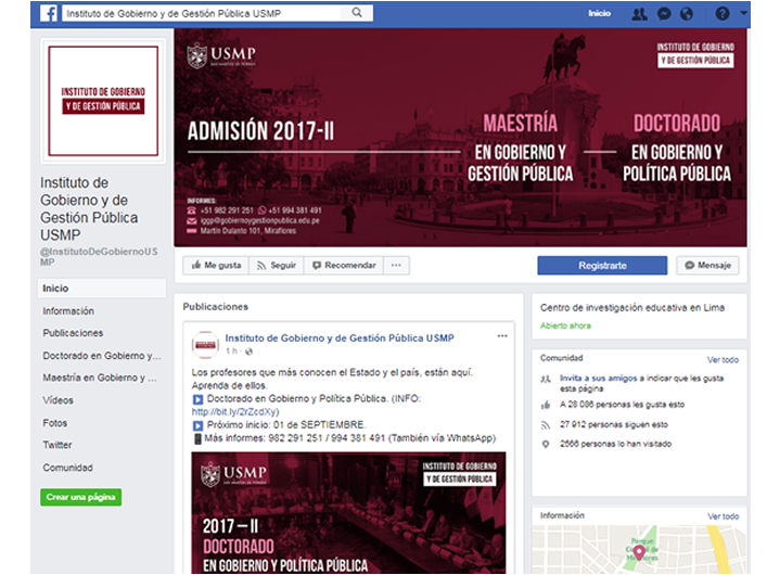 Instituto de Gobierno y de Gestión Pública – USMP